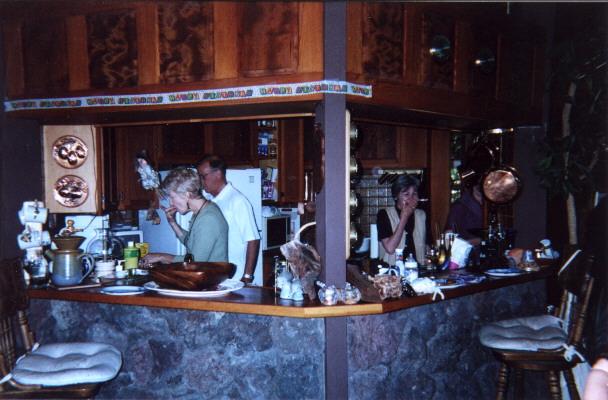 Meredith & Robert sampling Marilyns food.